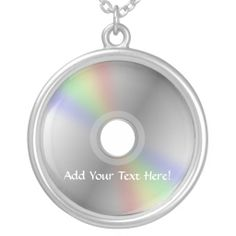 CD or DVD Personalized Music Necklace