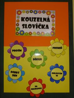 Fotka: kouzelná slovíčka School Classroom, Classroom Decor, Team Builders, Diy And Crafts, Crafts For Kids, Class Displays, Classroom Management, Projects To Try, Preschool