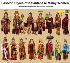 Ancient Kelantan from to Centuries Historical Costume, Historical Clothing, Historical Photos, Traditional Fashion, Traditional Dresses, Oriental Fashion, Asian Fashion, Vintage Paper Dolls, Fashion History
