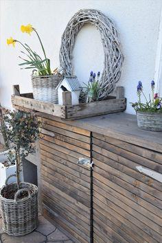 DIY Kommode für den Garten - Elas Dekoideen Garden Shed Diy, Diy Garden Projects, Diy Garden Decor, Pallet Projects, Diy Chest Of Drawers, Garden Types, Pallets Garden, Home Staging, Container Gardening