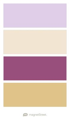 Lavender, Champagne, Mulberry, and Gold Wedding Color Palette - custom color palette created at MagnetStreet.com