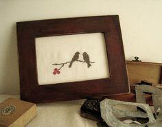 Amore birds cross stitch pattern