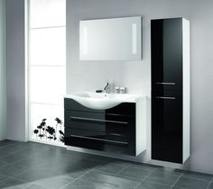 Small Bathroom Furniture Design - Small Bathroom Furniture Design Modern bath architecture is centered about a simple, clean, minimalistic attending and Bathroom Basin Cabinet, Black Cabinets Bathroom, Small Bathroom Furniture, Modern Bathroom Faucets, Modern White Bathroom, Bathroom Vanity Designs, Silver Bathroom, White Vanity Bathroom, Bathroom Design Small