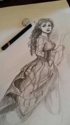 Christine Daae-----> I love the way this sketch fades