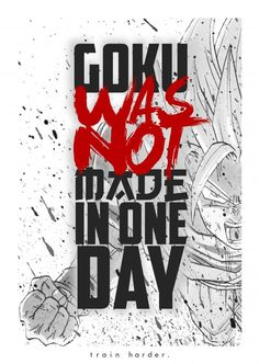 Motivation Success Goku Animie