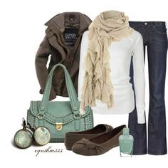 Absolutely love this outfit :)  Image detail for -Fall Fashion Outfits 2012   Blue/Gold   Fashionista Trends