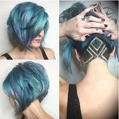Do you like these colors and undercut? via @rebeccataylorhair