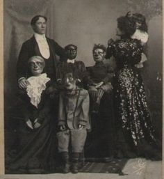 Vintage photographs of Halloween costumes