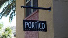 Portico Coffee House exterior signage