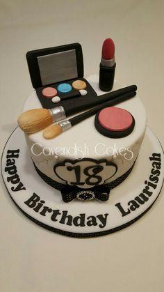 Make up cake for an 18th Birthday. #cavendishcakes