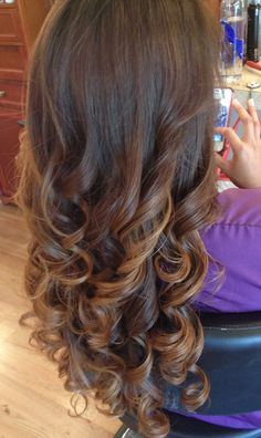 Hair color ombre long hair @Chris Cote Khoshghadami