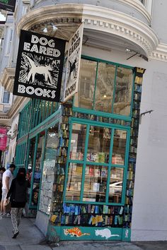 Dog Eared Book store-love to walk in