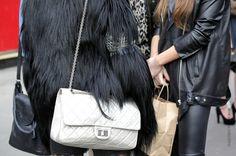 Black Fur + White Chanel