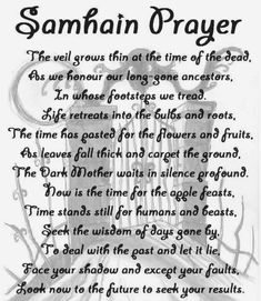 A samhain prayer Wiccan Spell Book, Wiccan Witch, Magick Spells, Wicca Witchcraft, Witch Spell, Samhain Ritual, Witch Rituals, Wiccan Sabbats, Wiccan Chants