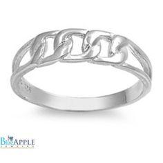 5mm Interlocking Ring Band Solid 925 Sterling Silver Men Women Unisex Interlocking Chain Wedding Engagement Anniversary Plain Band Gift