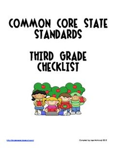 Third Grade Common Core State Standards Checklist! This tool has been invaluable to me to plan from month to month and as a yearly curriculum pacin...