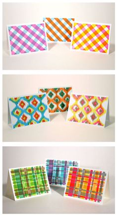 letter pressed plaids and ikats