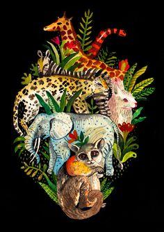Juxtapoz Magazine - Things that Fit inside a Heart Illustration Arte, Illustrations, Medical Art, Anatomical Heart, Anatomy Art, Heart Art, Art Drawings, Drawing Art, Cool Art