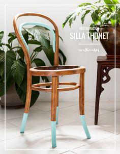 Cómo decapar barniz para restaurar una silla Thonet   Conkansei.com