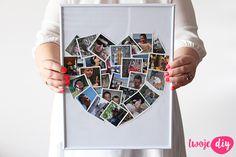 Serce ze zdjęć w ramce na Walentynki - zobacz na twojediy.pl
