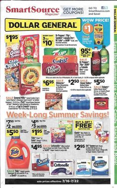 Dollar General Summer Saving Guide May   July     Http