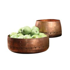 2-Pc. Antique Copper 'Fruta' Bowls | dotandbo.com