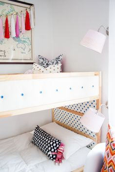 ashley rachelle kura bunk bed hack Attach panels with command strips