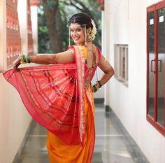 Marathi Nath, Marathi Bride, Kashta Saree, Sari, Nauvari Saree, Bride Poses, Indian Beauty Saree, Ganesha, Women