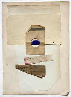 found papers and layered collage, Waldemar Strempler
