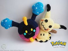 Pattern Free Pokémon Cosmog and Mimikyu. Come to know us for our facebook  and website. Patrón gratis Pokémon Cosmog y Mimikyu. Pasa a conocernos por nuestro facebook y sitio web. www.tarturumies.com https://www.facebook.com/Tarturumies