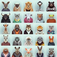 Zoo portraits by Yago Partal - another way of portraying a person: looking at their character rather than what they look like on the outside