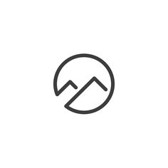 #vector #logo #logotype #clean #mark #sign #web #it #tech #website #minimal #brand #branding #corporate #identity #logoinspiration #logoexcellent #mountain #circle #nature #hill #sport #travel #vacation #agency #trip #relax #strength #run #logoinspire