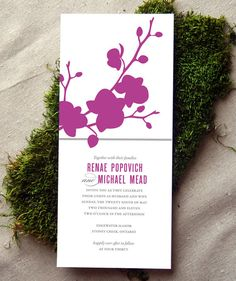 Phalaenopsis Orchid Wedding Invitation by CheerUpCherup on Etsy, $3.75