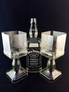 Botella de whisky de Jack Daniel cáliz Set de 2