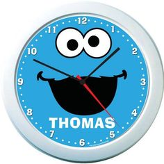 Cookie Monster Personalized Clock by Identity Direct. $14.99. We will print your child's name on this colorful Cookie Monster name clock that is guaranteed to brighten any room and make learning to tell the time fun!