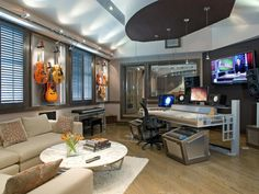 Home Music Studio Design Ideas home music studio design ideas with acoustic treatment beautiful black and white rugs for home music 12 Living Room Designs Inspired By Zodiac Signs Home Music