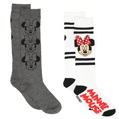 53186d2117a Minnie Mouse Womens 2 pack Socks (Big Kid Teen Adult)    More info could be  found at the image url.