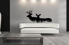 Wall Decal Deer in Grass Style A Vinyl by CuttinUpCustomDieCut, $45.00