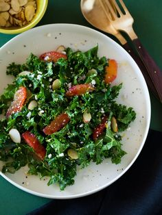 Blood Orange & Kale Salad by spoonforkbacon #Salad #Orange #Kale