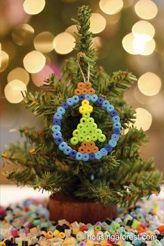 Hama peeler beads - tree ornament