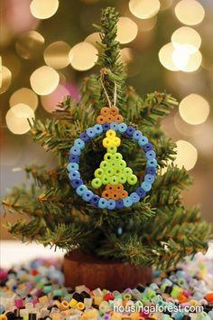 Hama peeler beads - tree ornament