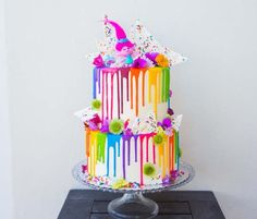 Summer Birthday, Birthday Cake Girls, Rainbow Birthday, 4th Birthday Parties, Girl Birthday, Birthday Ideas, Trolls Birthday Party Ideas Cake, Troll Party, First Birthdays