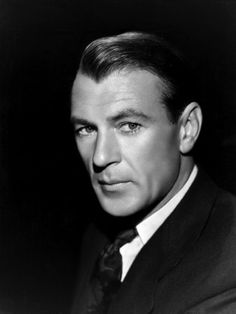 """Gary Cooper - one of the best!   Especially in """"The Pride of the Yankees."""" Hollywood Stars, Hollywood Men, Hollywood Icons, Golden Age Of Hollywood, Classic Hollywood, Gary Cooper, Old Movie Stars, Classic Movie Stars, Classic Movies"""