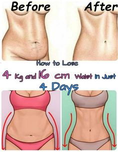 How to Lose 4 Kg and 16 cm Waist in Just 4 Days