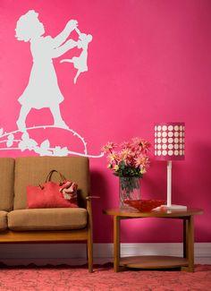 vinyl wall decals boy and girl praying   Pin Wall Sticker Art Sakura Flowers Asian Tattoo Graphic Home Decor on ...
