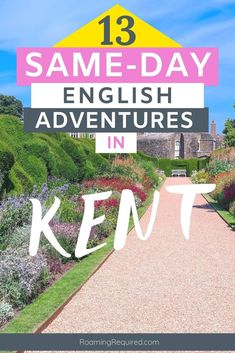 Embrace the staycation by exploring more of the UK with one of these great day trips to Kent. All of them can be reached in less than 2 hours from London. Discover the English countryside in Kent by spending the day discovering with quaint villages, historic landmarks and castles, and dramatic coastlines that are within easy reach on a day trip from London. #London #DayTrip #Roadtrip #Driving #Vacation #Holiday #UK #UKRoadtrip #Kent #RoamingRequired #iRoamToo Travel Tips For Europe, Budget Travel, Travel Destinations, English Adventure, Road Trip Uk, Short Break, Travel Articles, Frugal Tips, English Countryside