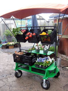 Space is tight for farms in the city. This cart is designed for urban farmers, it can be used from planting to harvesting to selling. Different attachments are used for different tasks, freeing up much needed space on small farms.