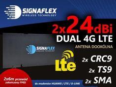 ANTENA DUAL 4G LTE 48dBi HUAWEI ZTE CRC9 TS9 SMA