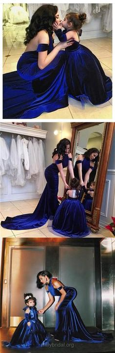 Royal Blue Prom Dresses Long, Cheap Prom Dresses For Teens 2018, Mermaid Formal Party Dresses Halter Velvet, Backless Evening Pageant Sexy Ruffles