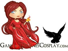 Melisandre Chibi/puppet 2nd version by PrincessAndDragon on deviantART